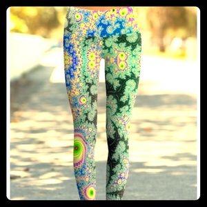 OM SHANTI full-length yoga pants